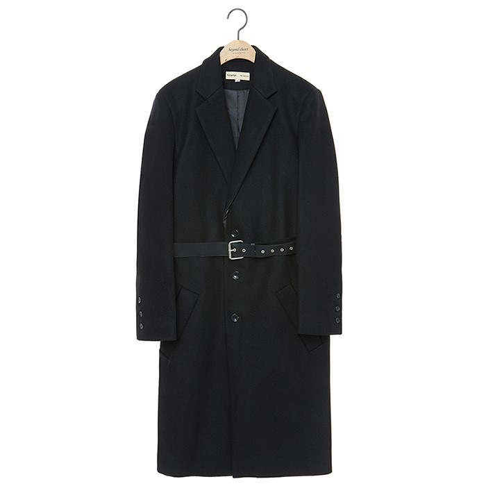 [COLLECTION LINE]BC LEATHER SINGLE COAT BLACK
