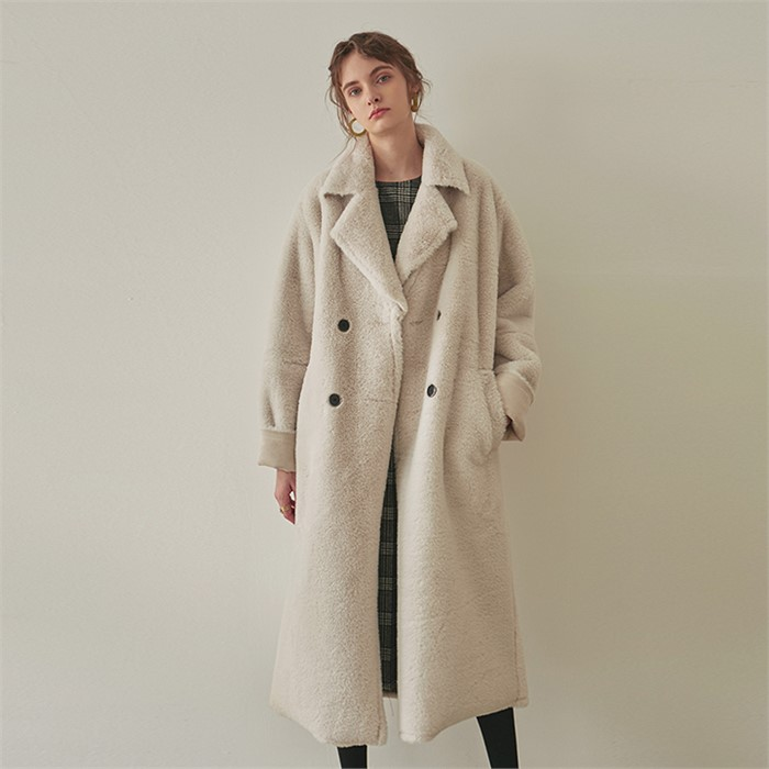 [YAN13] DOUBLE FACED LONG MUSTANG COAT_IVORY