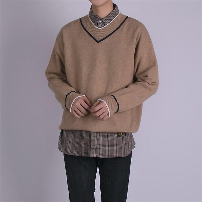 [어벤] 캐시미어 브이넥 스웨터