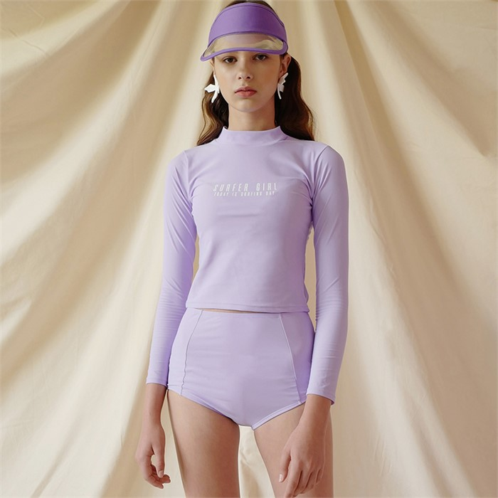 [루흠] ROPE NECK RASHGUARD (PURPLE)
