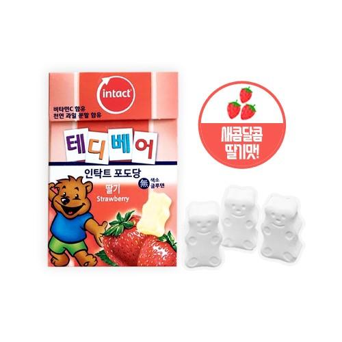 [인탁트] 인탁트 테디베어 FLIP BOX 포도당(딸기)