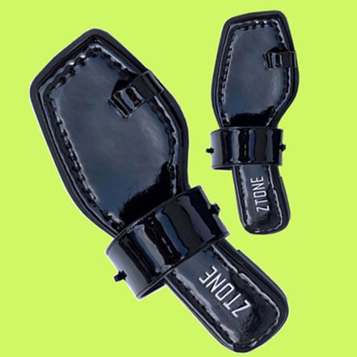 [즈톤] ZT9102-056_Toe strap sandal /BLACK