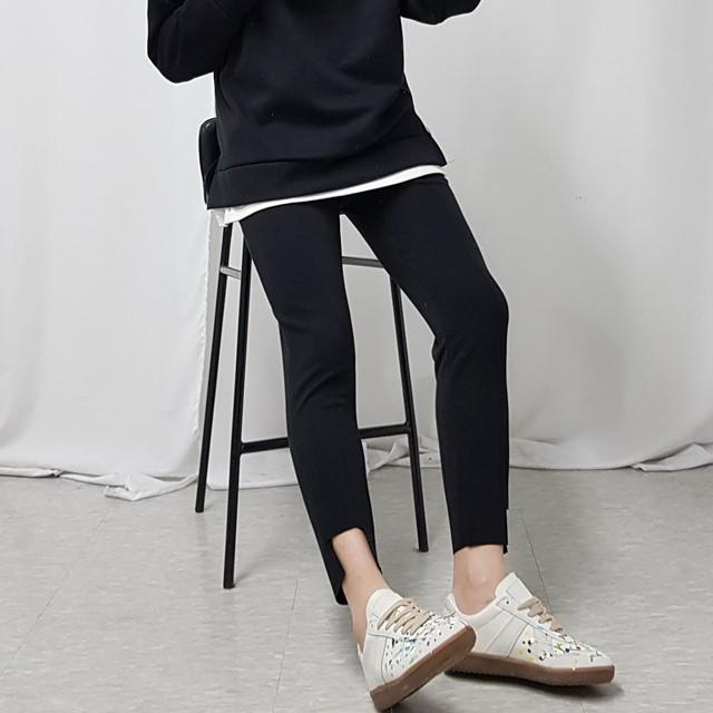 [레오파드] 남녀공용 밑단 언발 트레이닝 팬츠