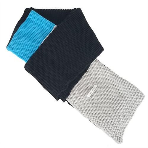 [와드로브] COLORBLOCK MUFFLER_BLACK