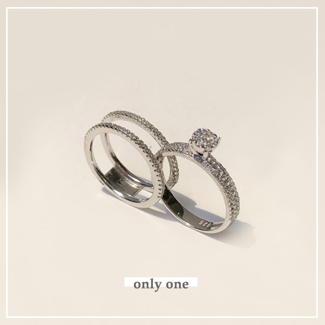 [제이블링] 큐빅세트 럭셔리 반지