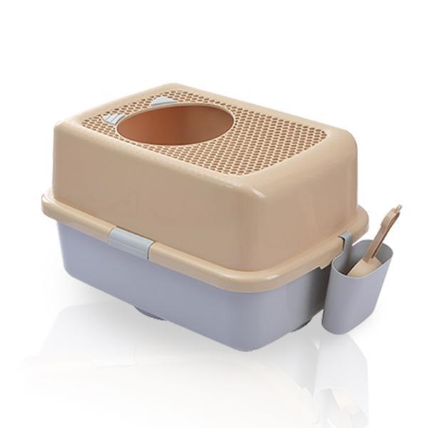 [HWMALL] 고양이 후드형 탑도어 화장실 대형 커피&그레이