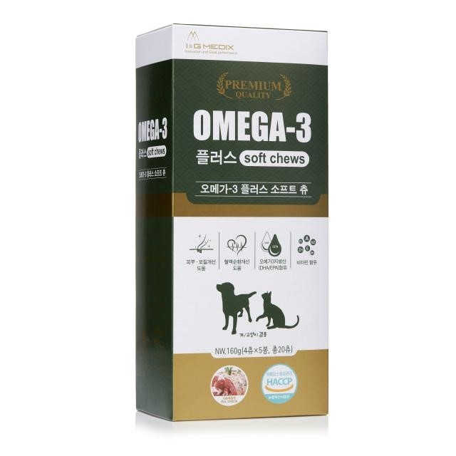강아지 고양이 영양제 오메가3플러스 소프트츄 32g