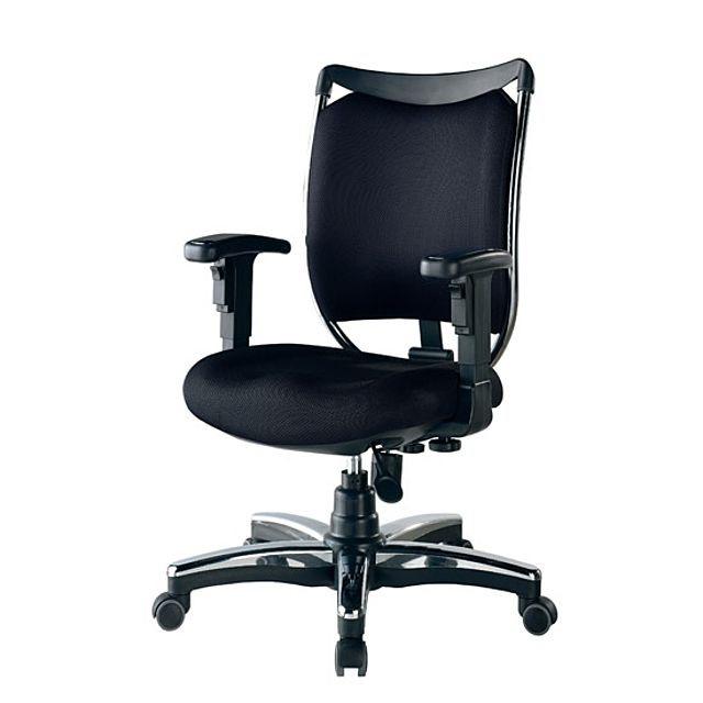 웰빙중도금-PS602-블랙 학생의자.사무용의자.회...