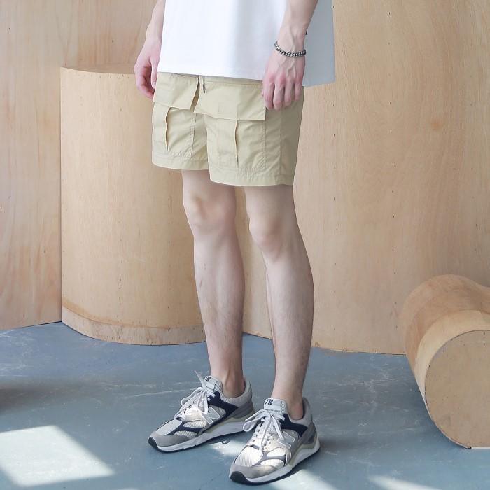 [매스노운] 프론트 투 포켓 카고 숏 팬츠 반바지 MSNSP005-BG