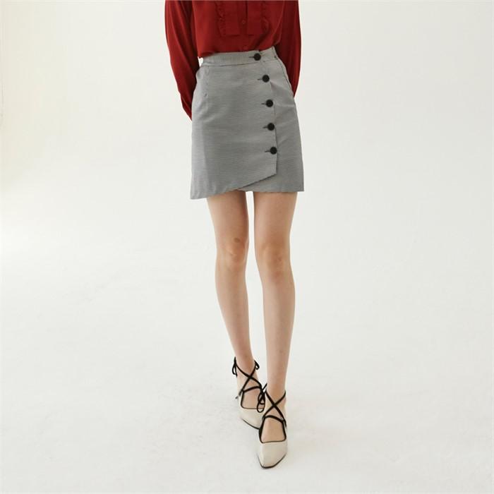 [엽페] round wrap skirt_black