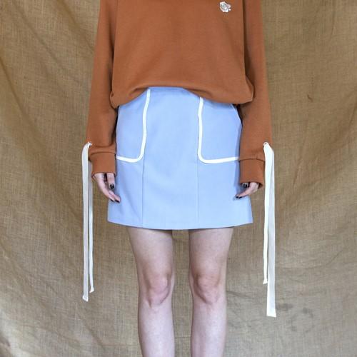 [엽페] [yuppe] line skirt_sky blue