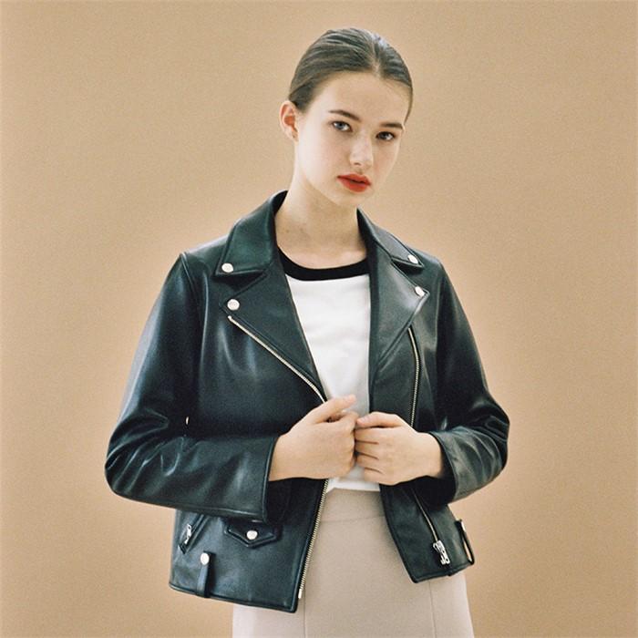 [엽페] soft leather jacket