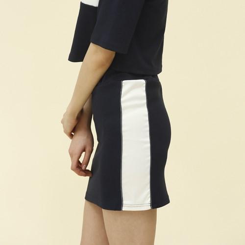 [엽페] [yuppe] piping skirt_navy