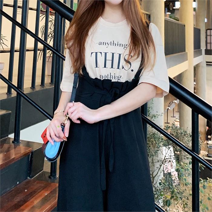 [왓이즈713] 디스 레터링 반팔 티셔츠