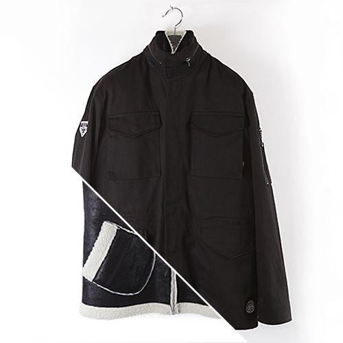 [에잇볼륨]M-65 Jacket with Inner Vest (Black)