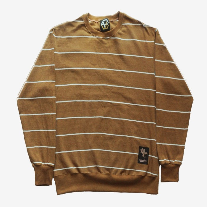 EV Thin Stripe Crewneck (Beige)
