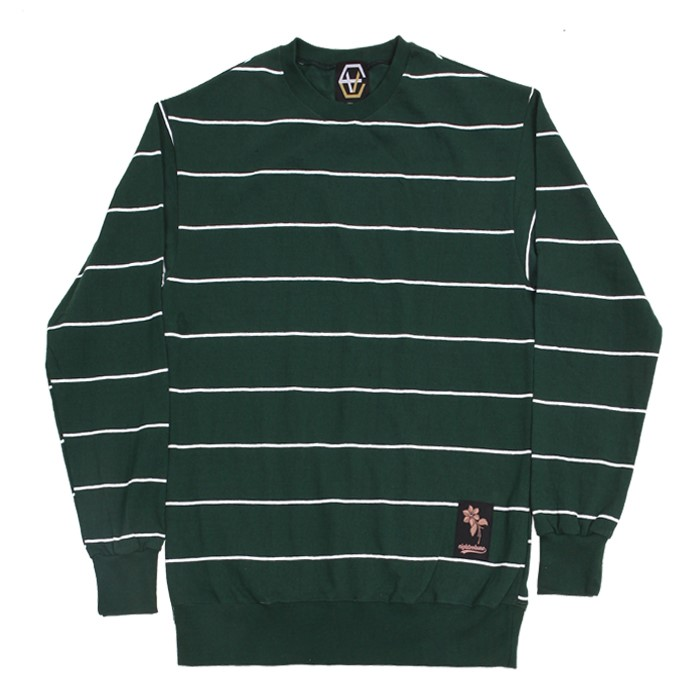 EV Thin Stripe Crewneck (Green)