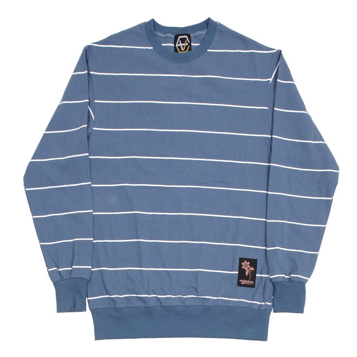 EV Thin Stripe Crewneck (Skyblue)