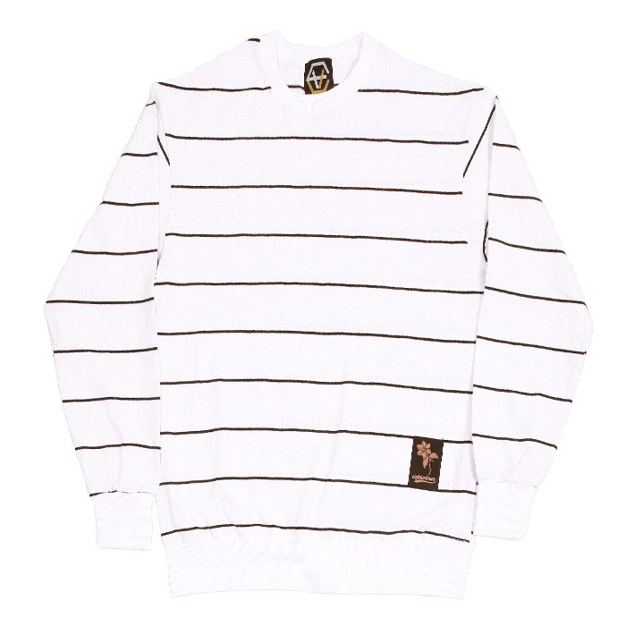 EV Thin Stripe Crewneck (White)