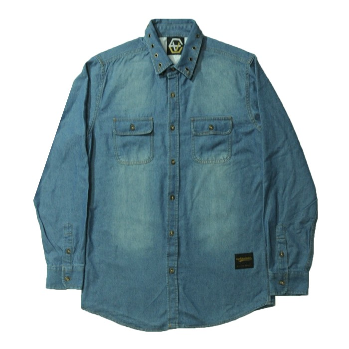 EV Stud Denim Shirts (Skyblue)