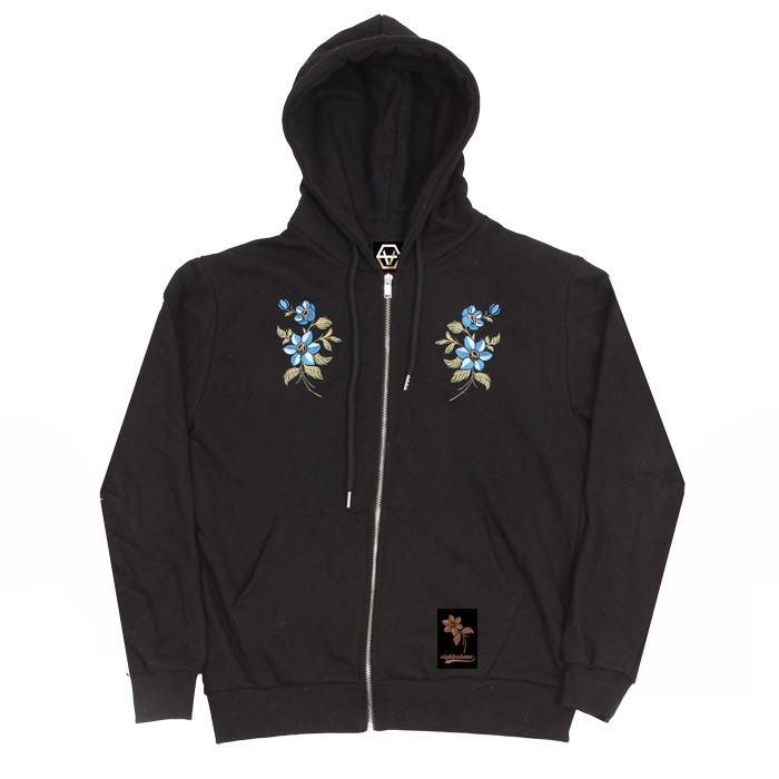 EV M.Flower Hoodzip (Black)