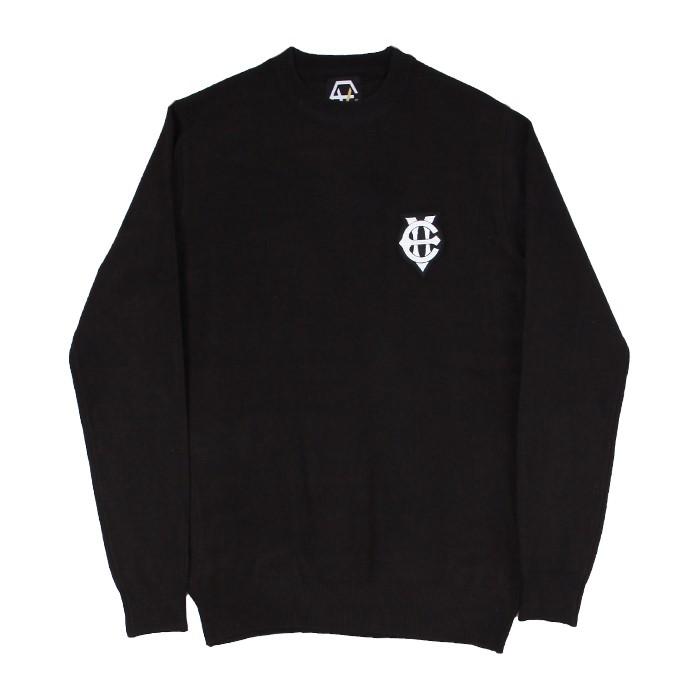 [에잇볼륨]EV Emblem Knit (Black)