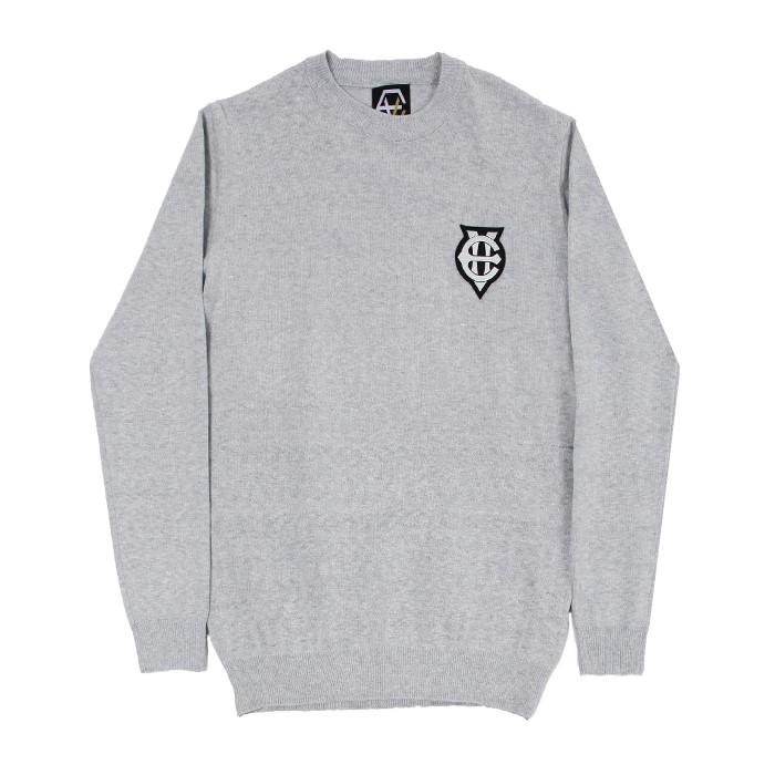 [에잇볼륨]EV Emblem Knit (Gray)
