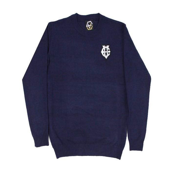 [에잇볼륨]EV Emblem Knit (Navy)