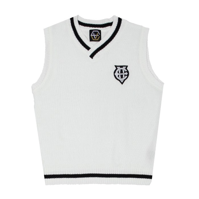 [에잇볼륨]EV Emblem Vest (Ivory)