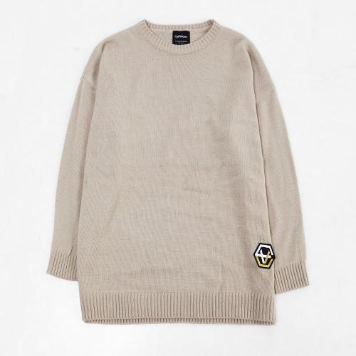 [에잇볼륨]EV Emblem Basic Knit (Beige)