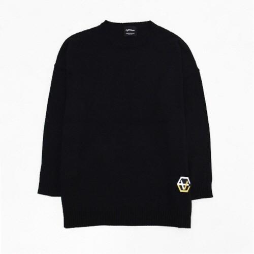 [에잇볼륨]EV Emblem Basic Knit (Black)