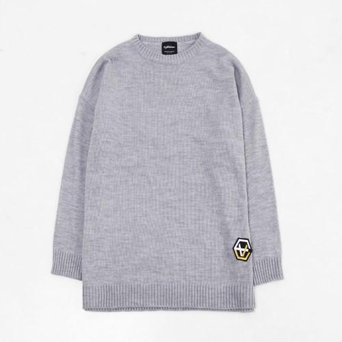 [에잇볼륨]EV Emblem Basic Knit (Gray)