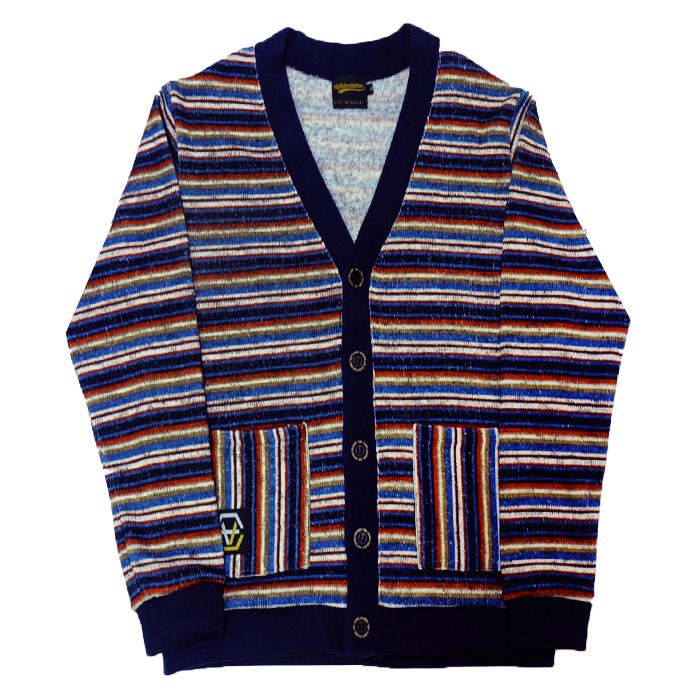 EV Stripe Knit Cardigan (Navy)