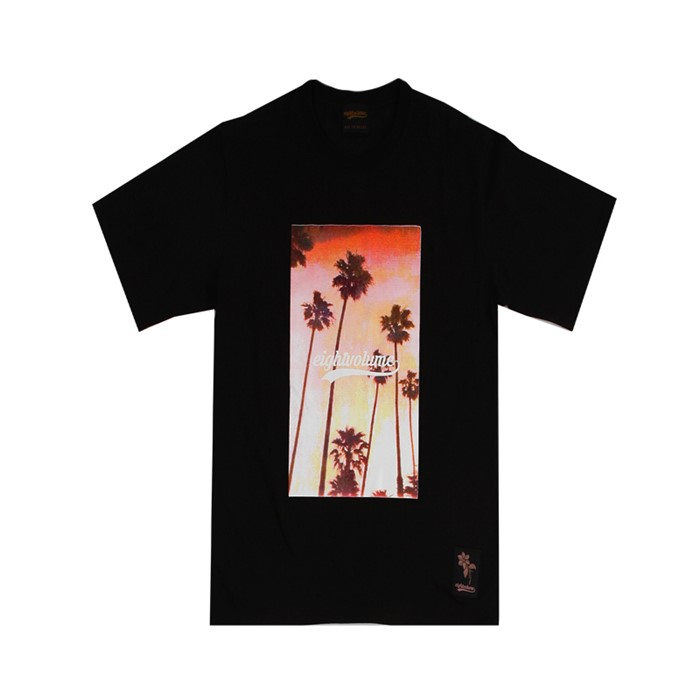 [에잇볼륨]EV Sunset Palm Tee (Black)