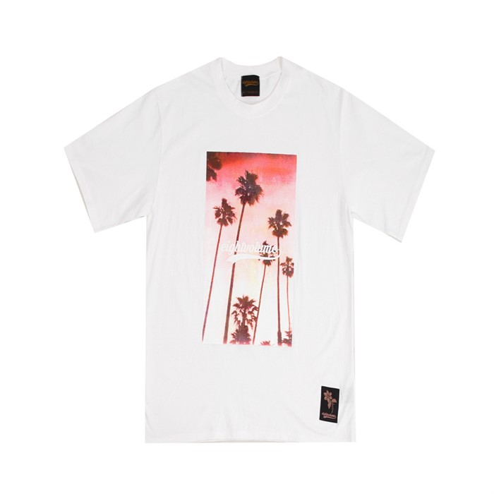 [에잇볼륨]EV Sunset Palm Tee (White)