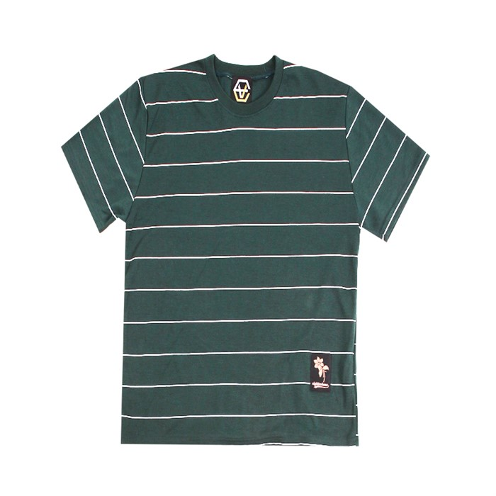 [에잇볼륨]EV Thin Stripe Tee (Green)