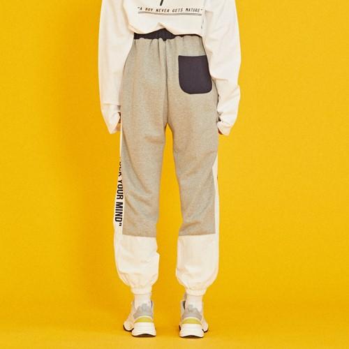 [코케트스튜디오] SWEAT COLOR BLOCK JOGGER PANTS [GY]