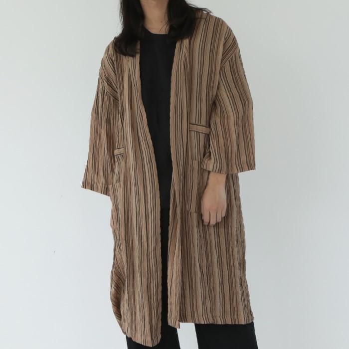 [말렌(malen)] unisex vintage robe brown [2color]