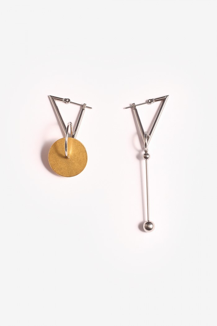 [모드곤] Golden round ice earring 2