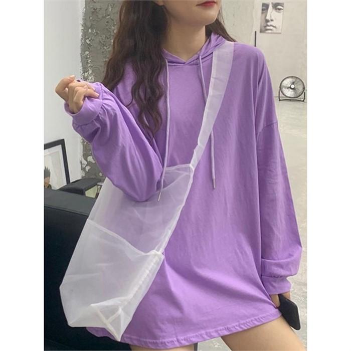 [일루아] 말리 컬러 후드티셔츠(6color)