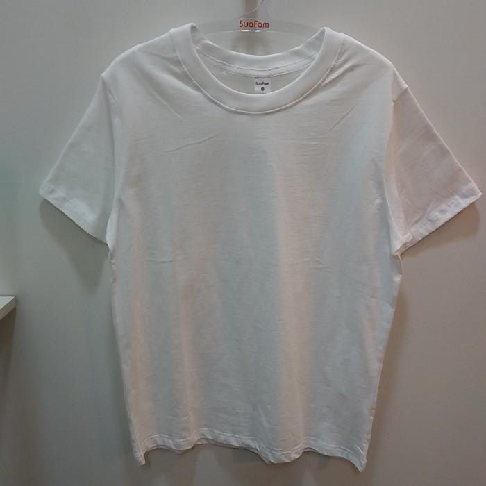 수아팜 NC05 남 사계절 클린 티셔츠(화이트) FAA0610