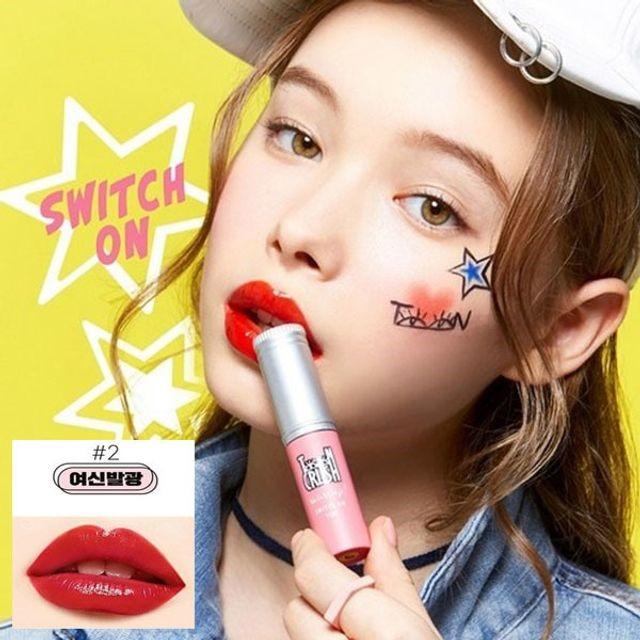 틴크러쉬 스위치온틴트 립스틱 02여신발광