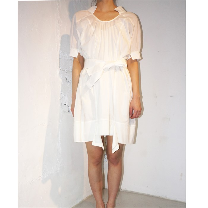 [사이미전] VOLANT MINI DRESS WHITE