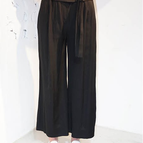 [사이미전] SMOKING WIDE PANTS BLACK