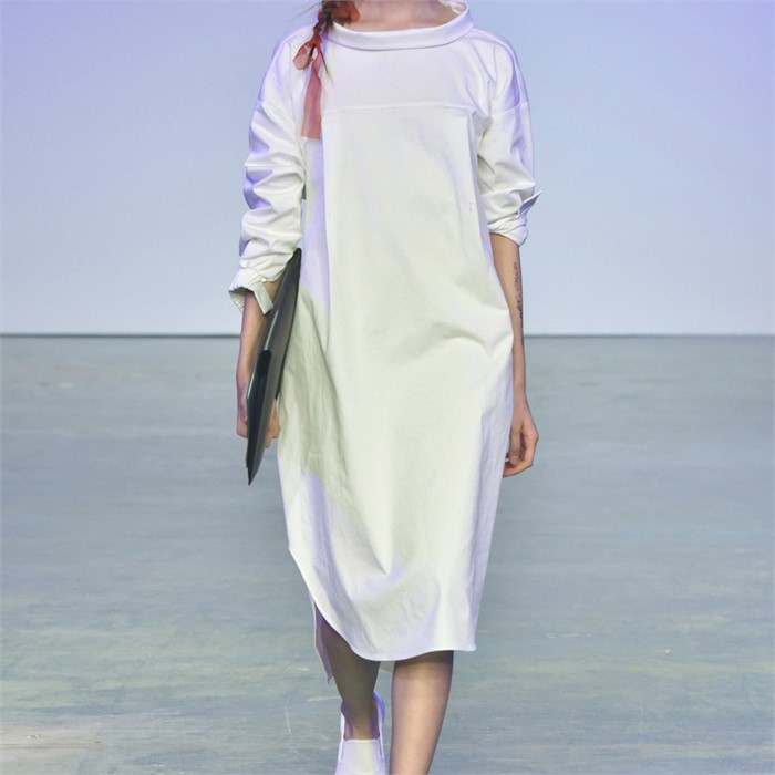 [사이미전] REVERSE SHIRT DRESS WHITE