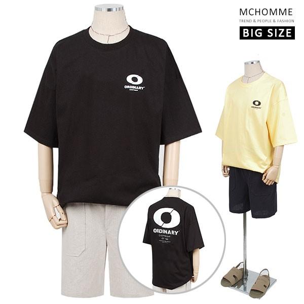 엠씨옴므 빅사이즈 오버핏 미카 반팔 라운드 티셔츠(~4XL) SH19S28_B