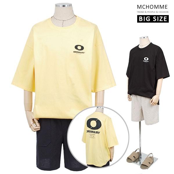 엠씨옴므 빅사이즈 오버핏 미카 반팔 라운드 티셔츠(~4XL) SH19S28_Y