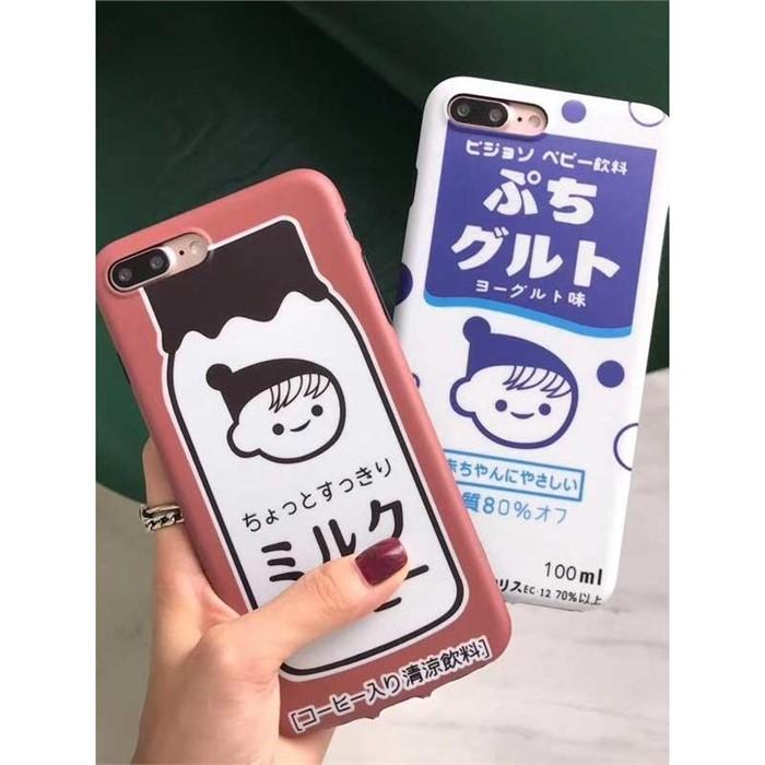 [일루아] 우유팩 캐릭터 하드 아이폰케이스