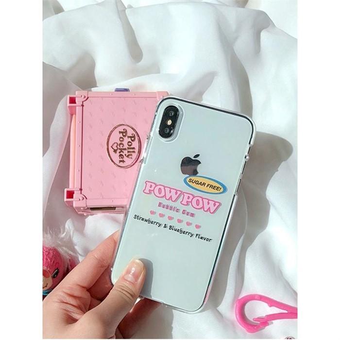 [일루아] 핑크포우포우 아이폰 젤리케이스