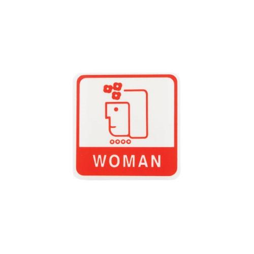 [아트사인] [아트사인] 화장실표지판 WOMAN 여자얼굴60x60mm
